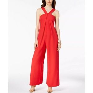 JAX Black Label Women's Red Wide Leg Jumpsuit